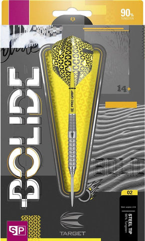 BOLIDE 02 SWISS POINT 90% TUNGSTEN STEEL TIP DARTS BY TARGET