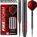Designa Firestorm Ringed V2 90% Tungsten Steel Tip Darts