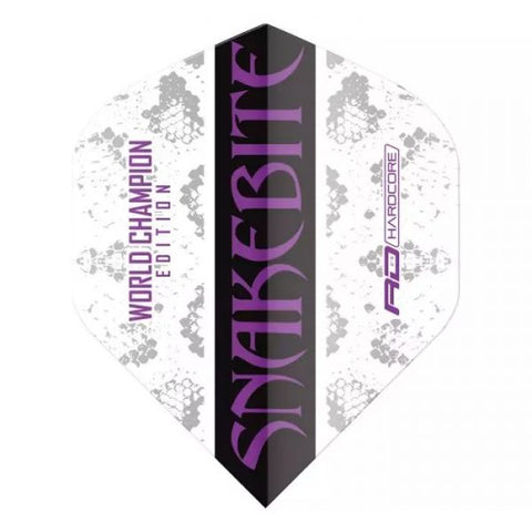PRE ORDER : SNAKEBITE WORLD CHAMPION EDITION-HARDCORE DART FLIGHTS (3 Sets Per Pack)