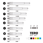 CUESOUL TERO SYSTEM AK7 - Dart Shafts Built-in Spring Telescopic (Set of 4 pcs)