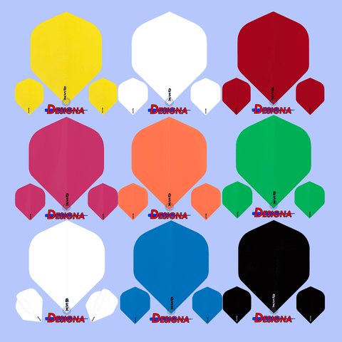 Designa DSX Colours 100 Micron Dart Flights