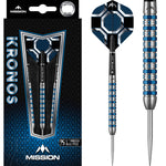 MISSION KRONOS DARTS STEEL TIP TUNGSTEN BLUE TITANIUM M1