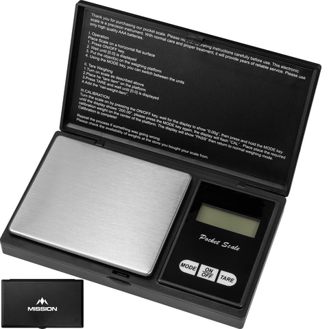 Mission Quark Pocket Scales LCD Digital Scales to Weigh Darts