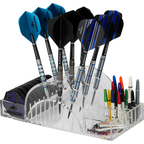 Mission Station 9 Darts Full Docking Station holds 9 Darts and Accessories Dart Stand