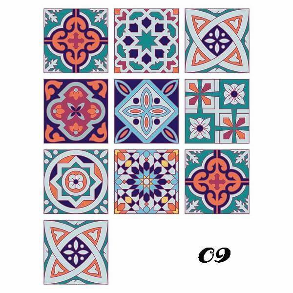 Art On The Wall Geometric Tile Decals(10 Pieces A Pack& HOT SALE!!)