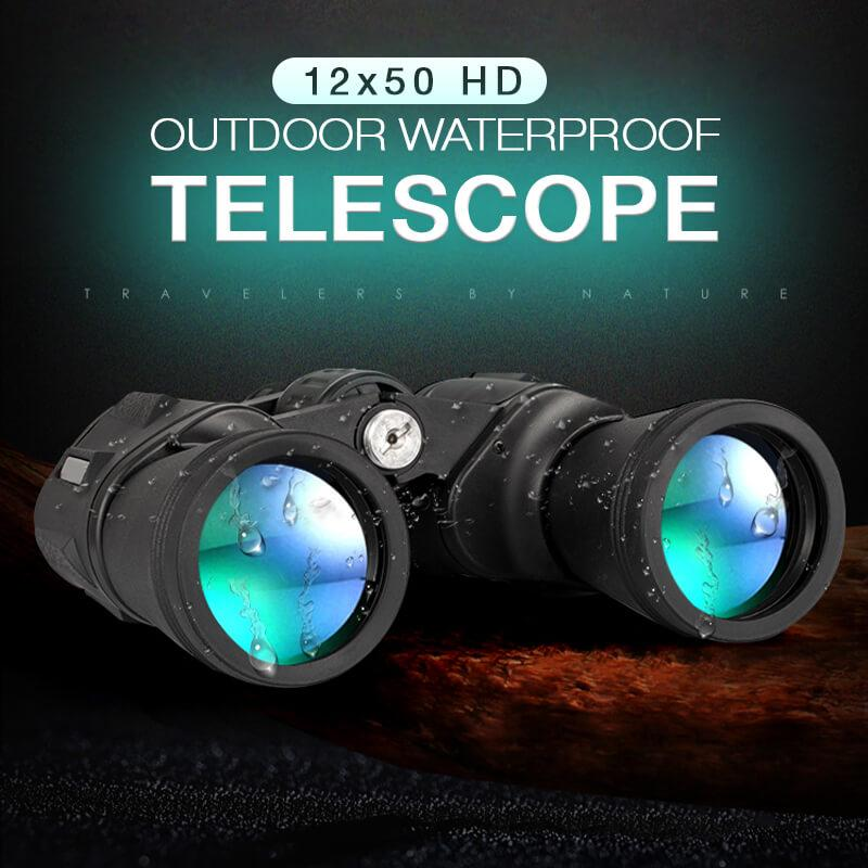 12 x 50 HD Waterproof Binoculars Telescope