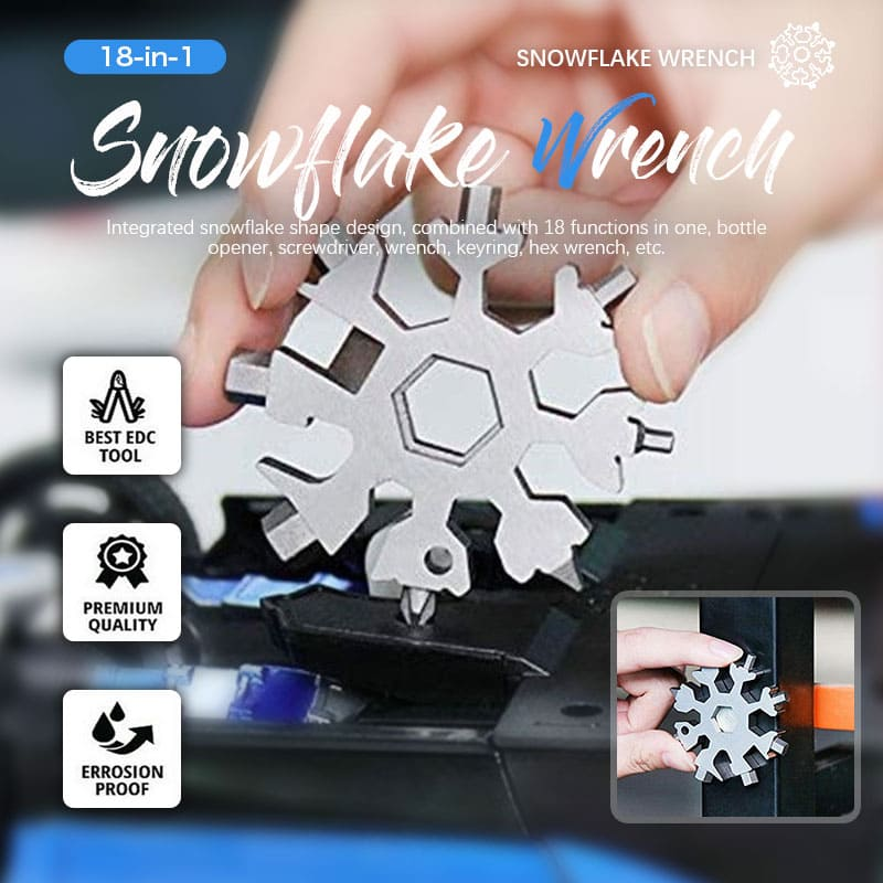 (Christmas Surprise)Saker 18-in-1 Snowflake multi-tool