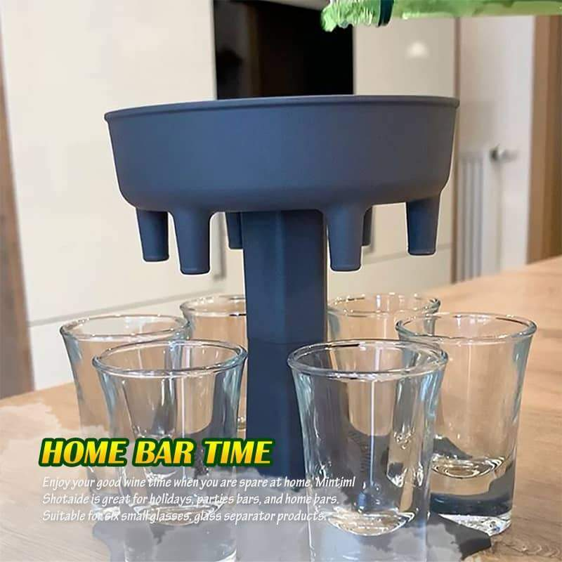 (Christmas promotion 50% OFF)6 wine glass dispensers-wine glass blackjack