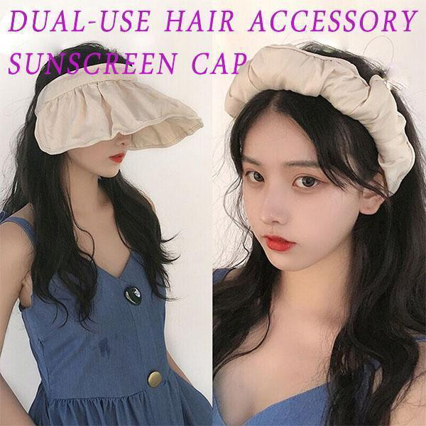 2020 Fashion Dual-use Hair accessory Sunscreen Cap