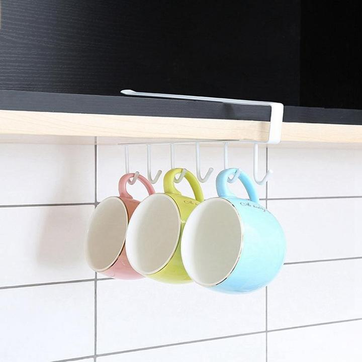 Under-Cabinet Hanger Rack (6 Hooks)