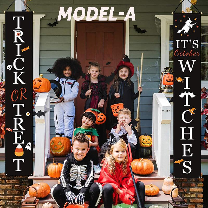 Trick Or Treat Halloween Door Couplet