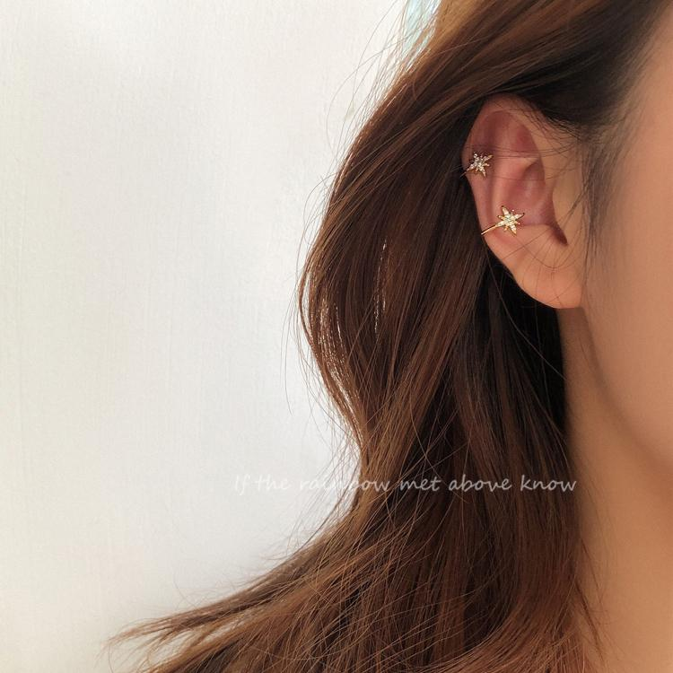 Zircon Earrings Cuff