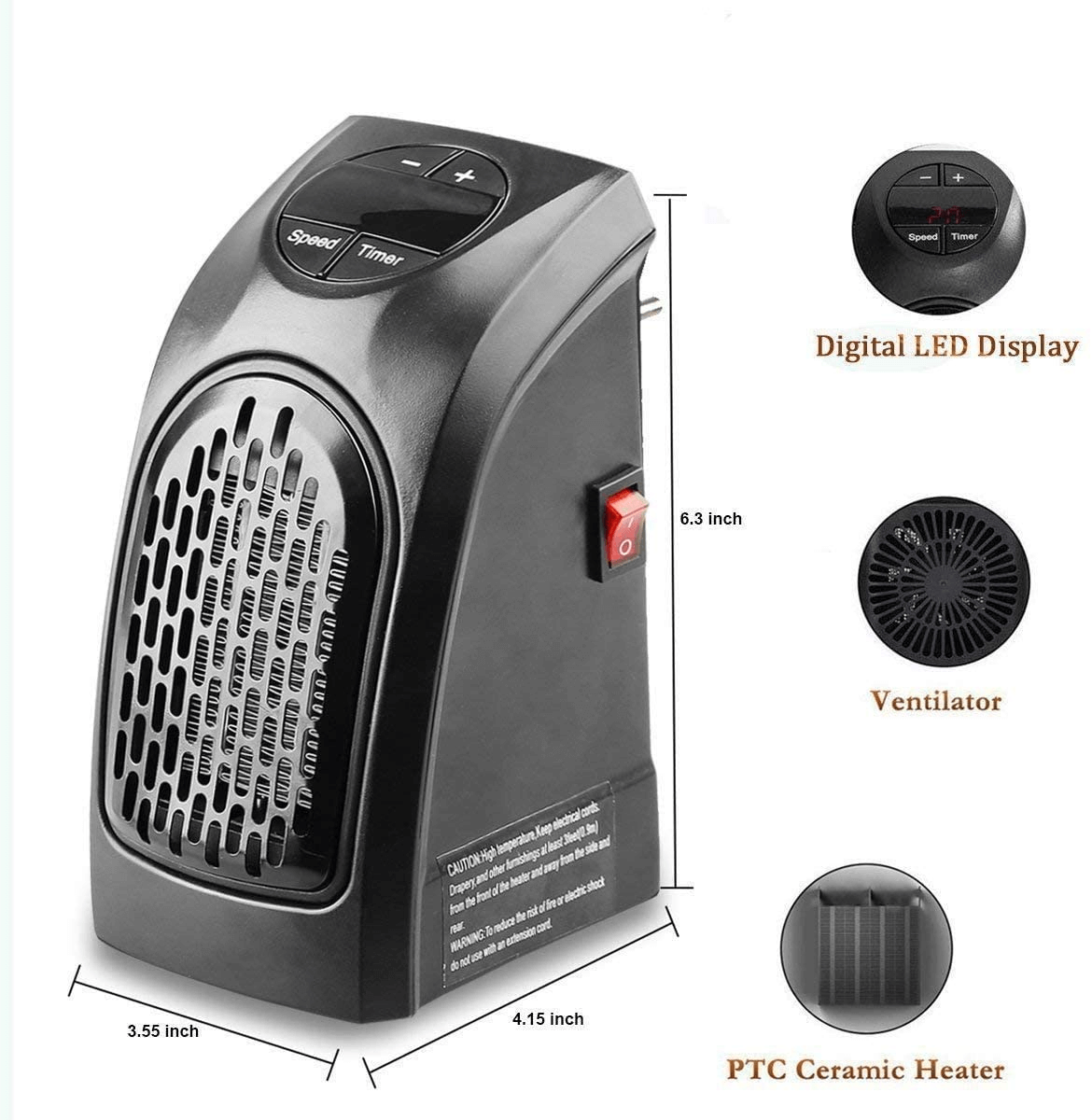 400W Space Heater, Warm Your Winter Handy Air Heater