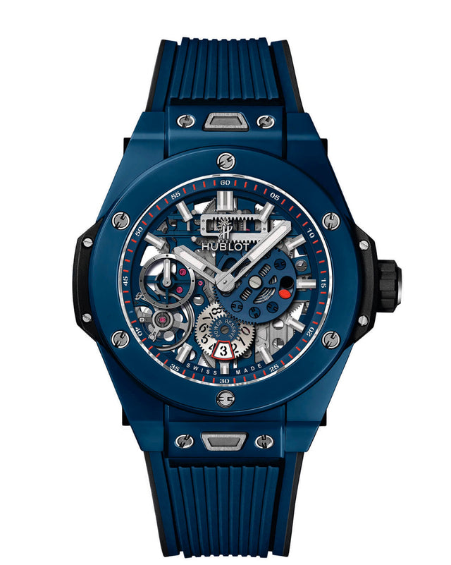 HUBLOT BIG BANG MECA-10 CERAMIC BLUE 45MM