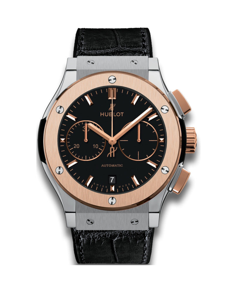 HUBLOT CLASSIC FUSION CHRONOGRAPH TITANIUM KING GOLD 45MM