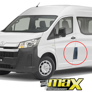 Toyota Hiace (2019-On) Black Fuel Tank Cover