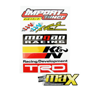 Universal 10-Piece JDM Racing Door Sticker Kit