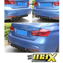 Load image into Gallery viewer, Universal Gloss Black Plastic Rear Bumper Diffuser