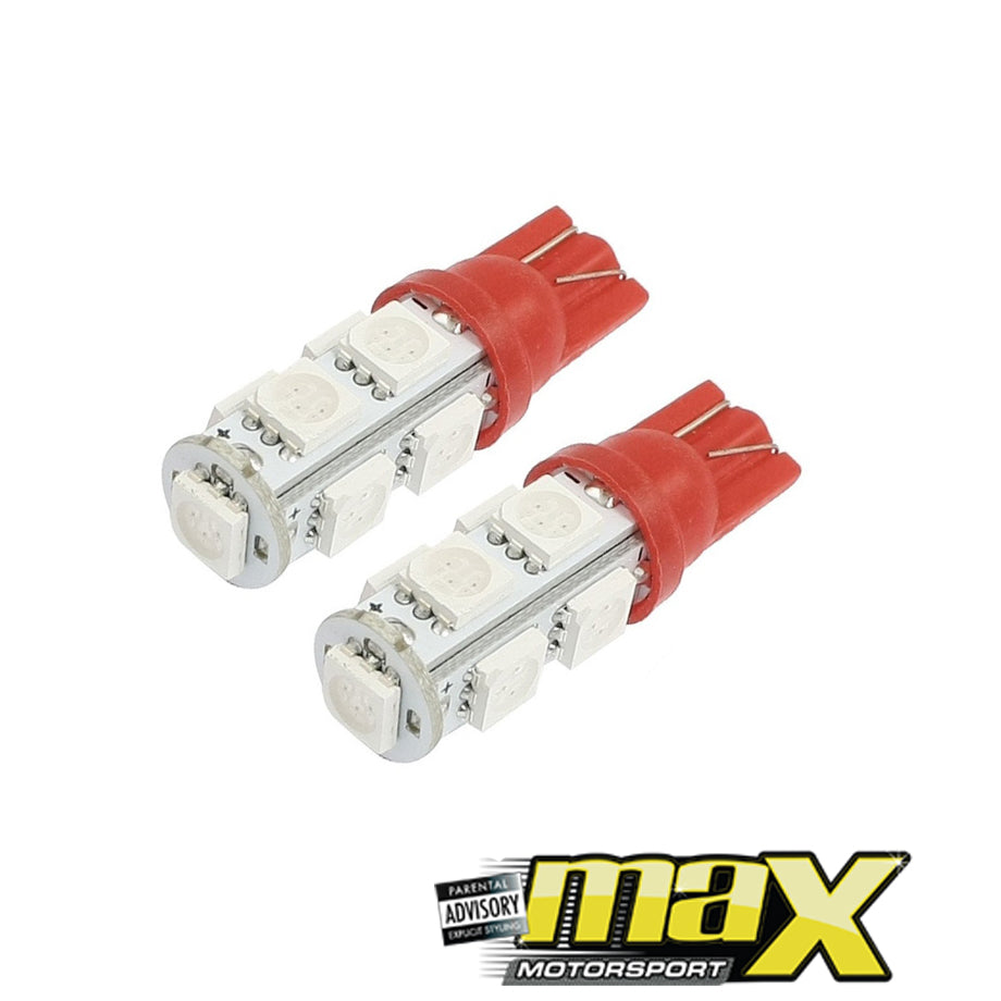 1 SMD Wedge Type LED Park Bulbs (Red)