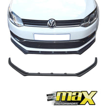 Load image into Gallery viewer, VW Polo 6R Fibreglass R-Style Front Spoiler maxmotorsports