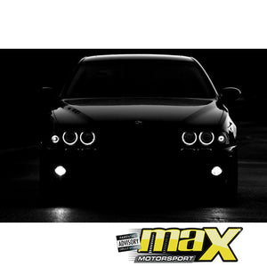 BM E30 3-Series Projecter Angel Eye Black Headlights (84-87)