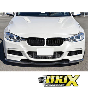 BM F30 (12-On) Performance Style Carbon Fibre Front Spoiler