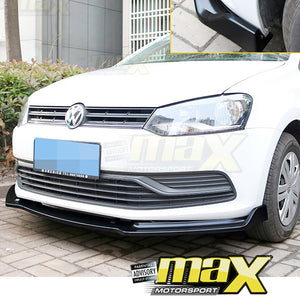 VW Polo 6 / Polo 7 Carbon Look 3-Piece Front Lip Spoiler