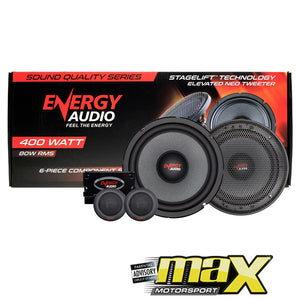 "Energy Audio 6.5"" Split Audio Component System (400W)"