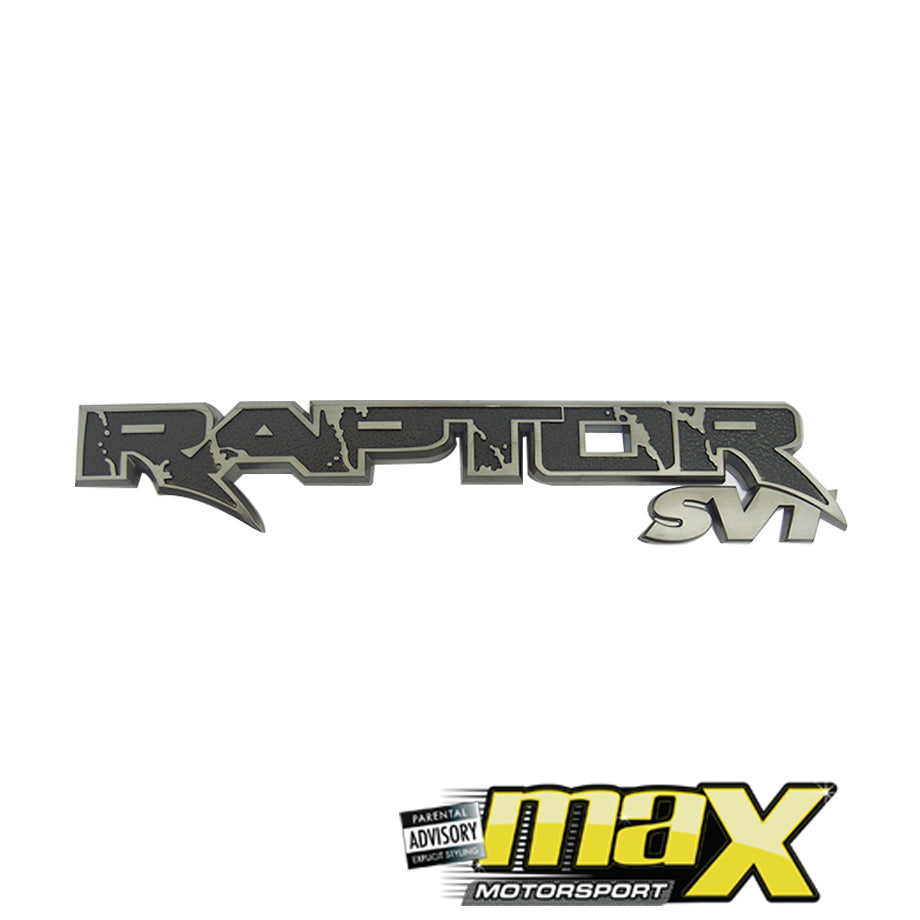 Universal Raptor SVT Emblem Badge
