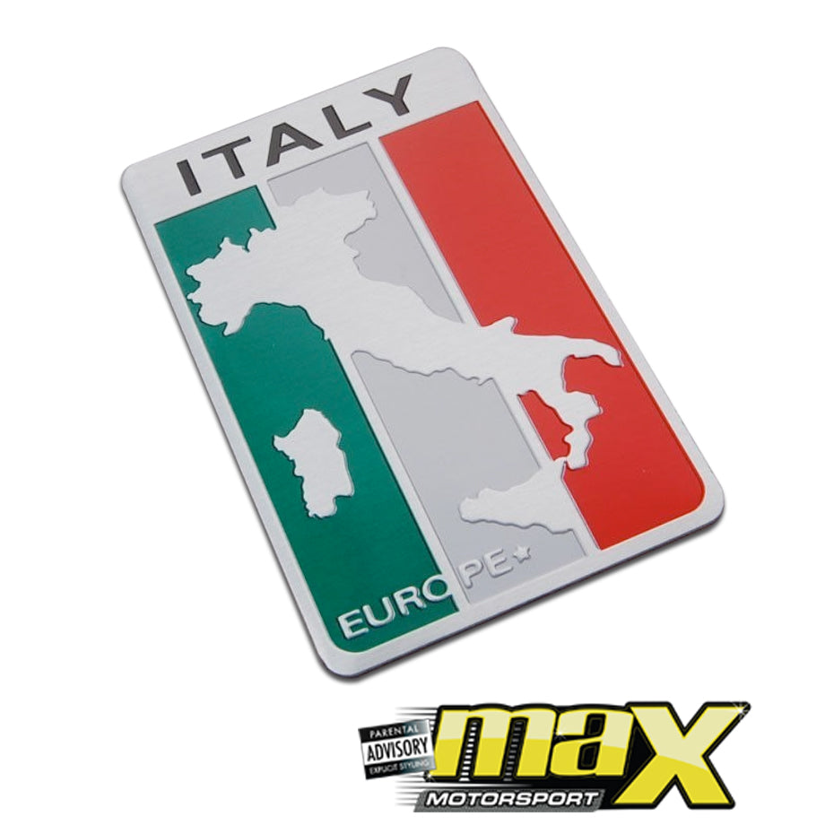 Aluminum Italian Land Stick On Emblem Badge