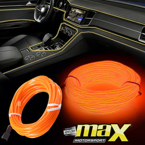 Universal Car Interior Ambient Neon Strip Light - Orange