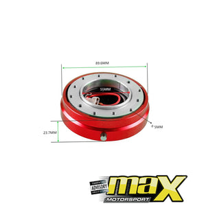 Universal Quick Release Steering Wheel Hub Kit (Red)
