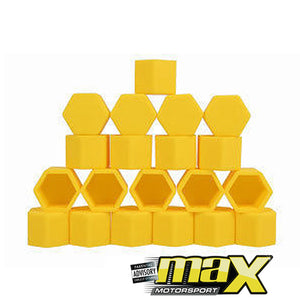 Silicone Protective Wheel Nut Covers (Yellow)