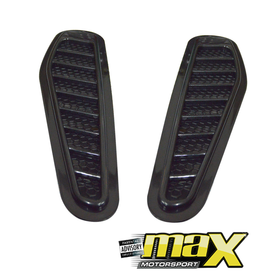 Universal Gloss Black Plastic Bonnet Vents