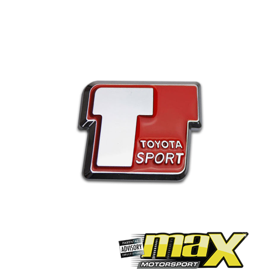Toyota T Sport Chrome Badge - Assorted Colours