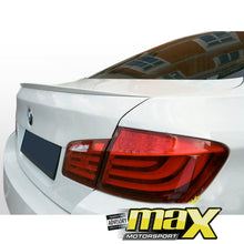 Load image into Gallery viewer, BM F10 M5 Performance Style Gloss White Plastic Boot Spoiler (11-14)
