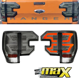 Ranger T6/T7 Raptor Style 4-Piece LED Smoked Tailghts