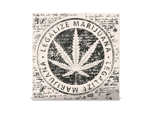 50 Keys Holder with Glass Magnetic Dry Erase Board K04 Legalize marijuana
