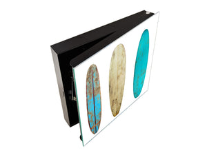 Key Storage Box with Your Design Glass White Board K03 Wood surfboard