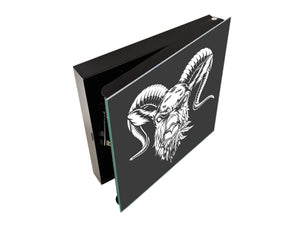 Key Lock Box Storage Holder K05 Goat with Leaf of Cannabis