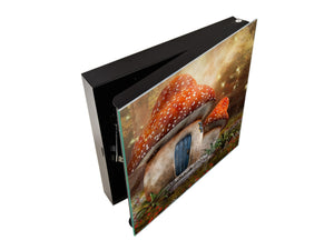 Decorative key Storage Cabinet K11 Mushroom cottage