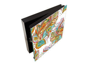 Wall Mount Key Box together K01 Abstract watercolor