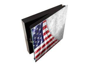 Key Storage Box K06 America flag of silk