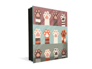 50 keys cabinet with Decorative front panel K02 Cats paw