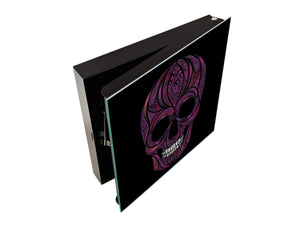 Wall Mount Key Box together K12 Human skull from flowers