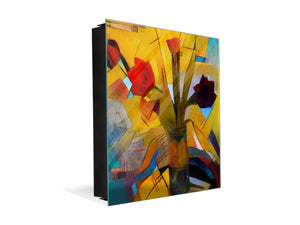 Decorative Key Storage Cabinet K08 Kandinsky Style Oil on Canvas