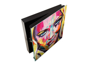 50 Key lock Box storage holder K13 A fantasy woman portrait