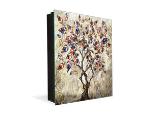 Wall Mount Key Box together with Decorative Dry Erase Board K14 Worldly motives: Color tree