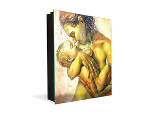 50 Key lock Box storage holder K13 Woman with a child in her arms