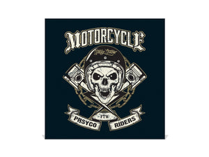 Wall Mounted Key Holder K03 Skull of bikers